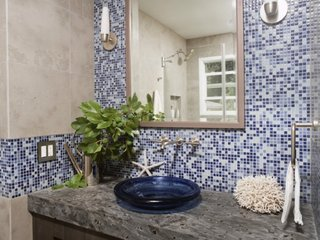 Mozaic combinat cu faianta gri