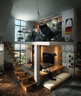 Amenajare camera cu etaj partial de tip loft