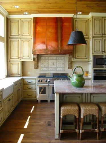 Hota de bucatarie din cupru pentru stil rustic