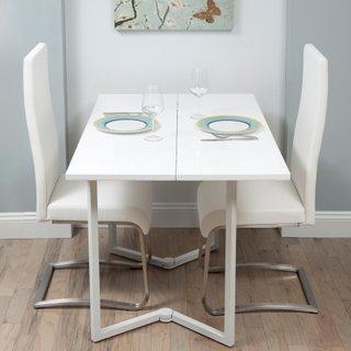 Masa dining model pliabil pentru garsoniere sau apartamente mici