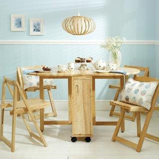 Set de masa si scaune pliabile din lemn pentru dining
