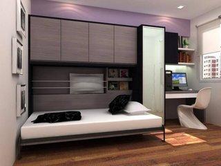 Dormitor cu pat rabatabil