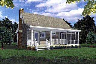 Casa mica dimensiuni reduse cu terasa in spate