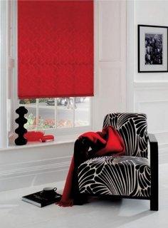 Roleta textila simpla rosie decor fereastra living modern