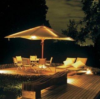 Idee pentru iluminarea terasei pe timp de seara