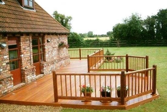 40 de modele de terase din lemn pentru un exterior natural for Modele case cu terase acoperite