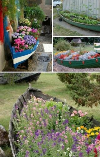 Gradina amanejata intr-o barca veche