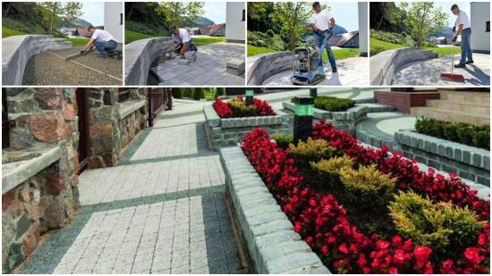 Pavaj pentru gradina cu pavele decorative | Montare