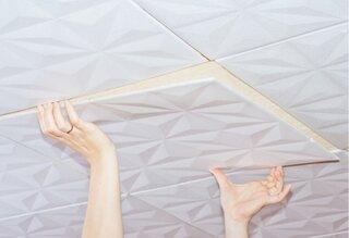 Lipire placa tavan fals