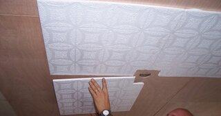 Lipire placi polistiren pentru tavan