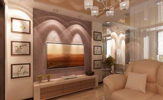 Idee montare televizor plat pe perete in living