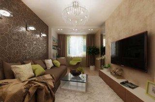 Living cu televizor pe perete