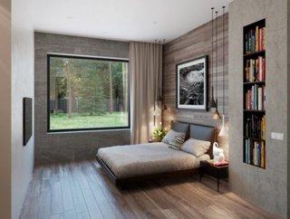 Nisa biblioteca cu carti in dormitor