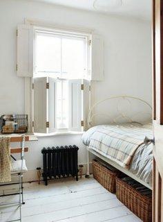 Model de obloane batance fara lamele pentru dormitor