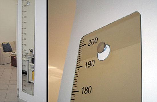 Oglinda cu cifre pentru masurarea inaltimii
