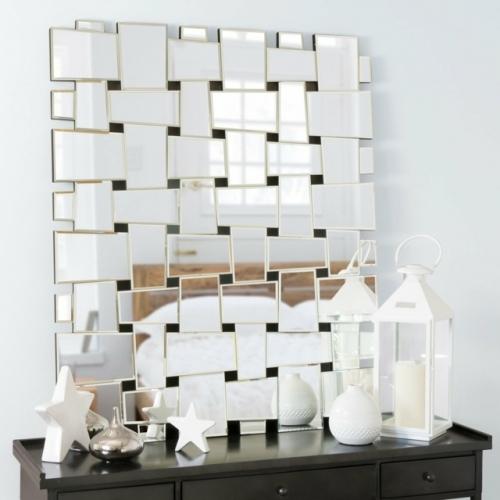 Oglinda moderna cu efect de tesatura