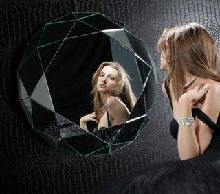 Oglinda moderna in forma de glob