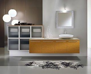Oglinda de baie patrata cu rama cu multe bucatatele mozaic din oglinzi