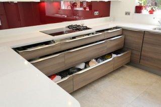 Sertare glisante mobilier bucatarie