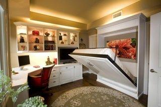 Dulap care se transforma in pat decor dormitor modern