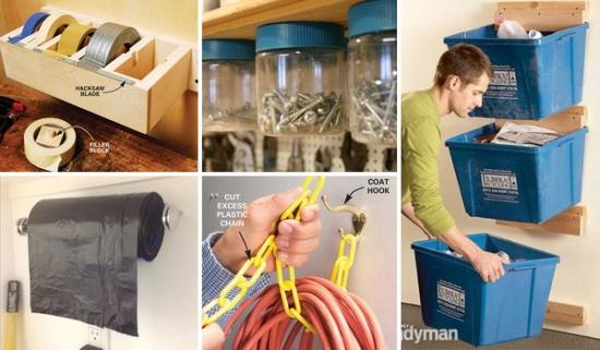 TOP 24 idei ieftine si usoare pentru organizarea spatiului de depozitare in garaj