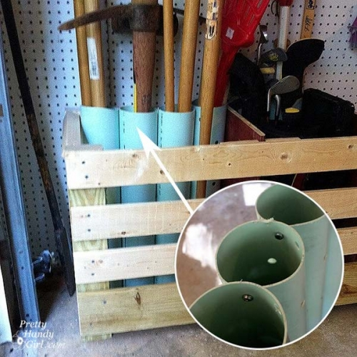 Suport unelte gradina in garaj