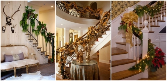 Ornamente de Craciun pentru scarile interioare