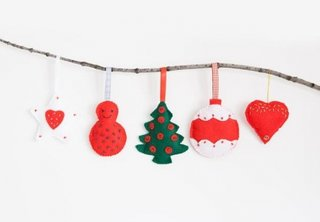 Colectie de ornamente pentru brad realizate din fetru