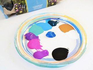 Culori acrilice pentru realizarea oualor de paste galaxie