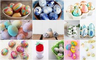 Modele si idei vopsire oua pentru masa de Paste