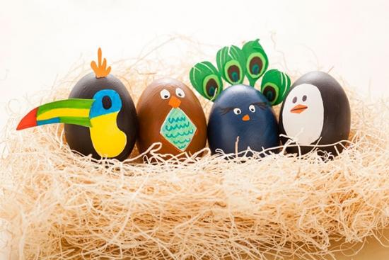 Oua transformate in paselele pentru Paste