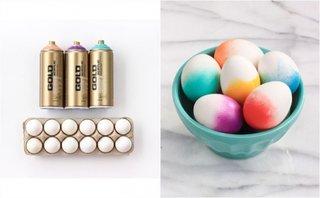 Oua vopsite pentru Paste cu efect de degrade