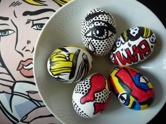 Tablouri in miniatura pictate pe oua