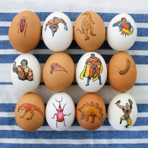 Tatuaje temporare aplicate pe oua