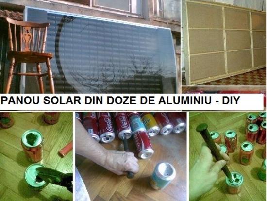 Cum construiesti un panou solar din doze de aluminiu - pentru caldura gratis
