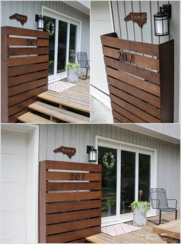 Decoratiune exterior din panou decorativ lemn