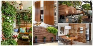 Panouri decorative din lemn in curte sau in casa