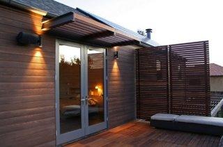 Partitie din lemn pentru terasa