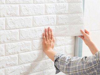 Mod aplicare panouri decorative 3D din spuma
