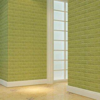 Panouri decorative verzi si plinte albe