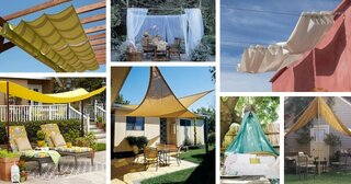 Modele panze umbrire pentru terase