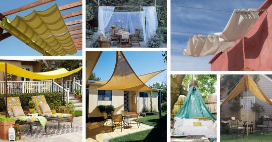 Panze de umbrire - UITE DE CE SUNT o solutie estetica si practica pentru infrumusetarea teraselor si gradinilor