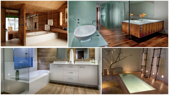 Pardoseli din lemn pentru baie