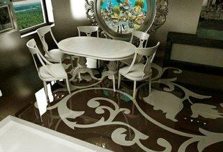 Pardoseala decorativa idee pentru decorul unui restaurat de lux