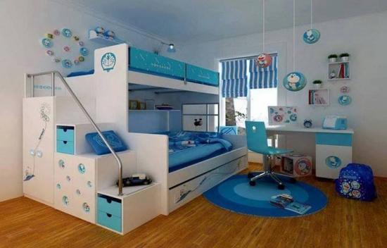 Dormitor cu pat suprapus pentru baieti