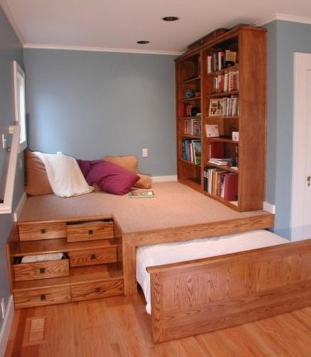 Camera de copil cu pat rabatabil mobilier din lemn
