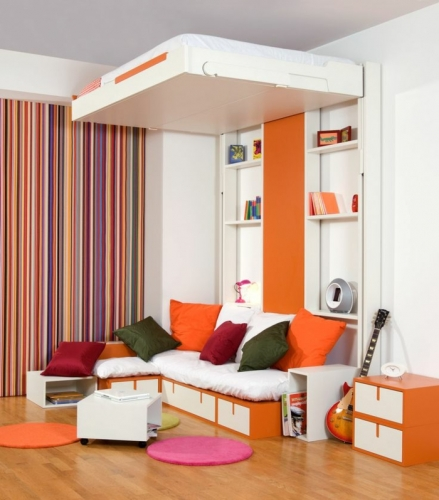 paturile rabatabile solutii practice si ingenioase. Black Bedroom Furniture Sets. Home Design Ideas