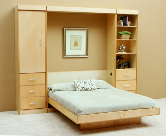 Mobilier Dormitor Din Lemn Cu Pat Rabatabil Incastrat