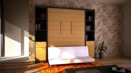 Pat rabatabil tip dulap pentru apartamente mici