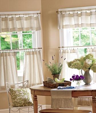 Idee interesanta pentru aplicarea perdelelor la ferestrele din bucatarie